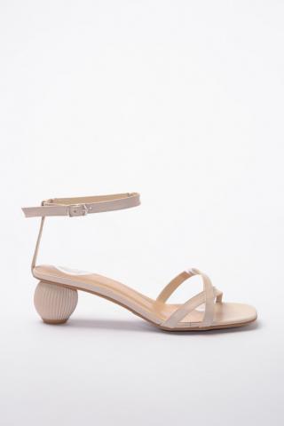 Trendyol Beige Blunt Nose Detailed Womens Classic Heels dámské 37