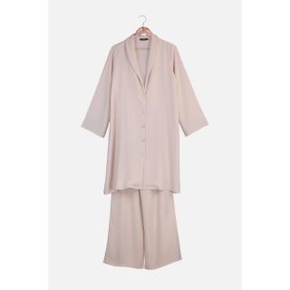 Trendyol Beige Jacket Trousers Bottom-Top Suit dámské 36
