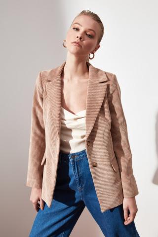 Trendyol Beige Pocket Detailed Jacket dámské 34