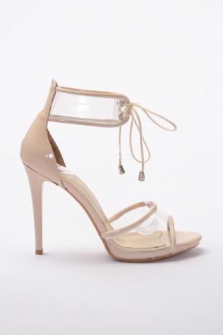 Trendyol Beige Rugan Transparent Detailed Womens Classic Heels dámské 39