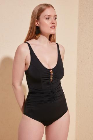 Trendyol Black Accessory Detailed Swimsuit dámské 40