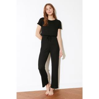 Trendyol Black Back Detailed Cashkorse Knitted Jumpsuit dámské S
