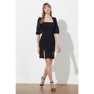 Trendyol Black Basic Dress dámské 36