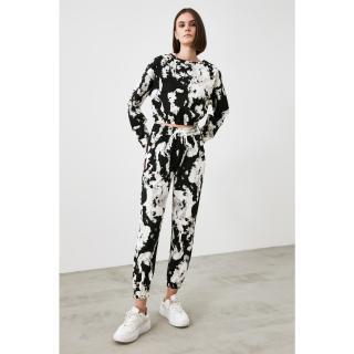Trendyol Black Batik Basic Jogger Knitted Tracksuit bottom dámské XS