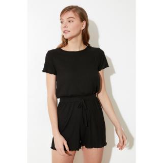 Trendyol Black Cashkorse Knitted Jumpsuit dámské XS
