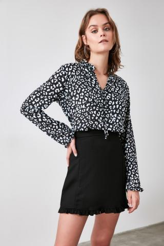 Trendyol Black Collar Detailing Blouse dámské 34