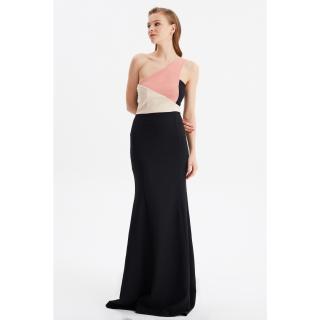 Trendyol Black Color Block Evening Dress & Graduation Gown dámské 34