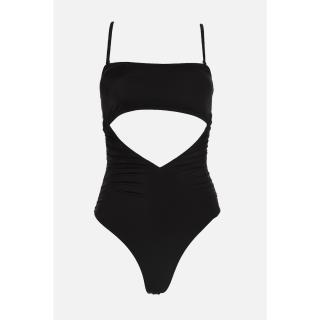 Trendyol Black Cut-Out Detailed Swimsuit dámské 34