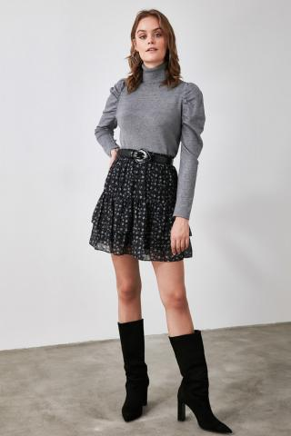 Trendyol Black Flywheel Skirt dámské 34