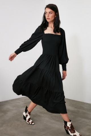 Trendyol Black Gipeli Knitted Dress dámské S