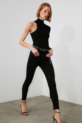Trendyol Black High Waist Skinny Jeans dámské 34