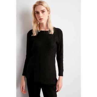 Trendyol Black KnitTed Detailed Knitwear Sweater dámské S