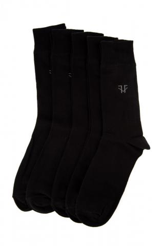 Trendyol Black Mens 5 Pack Socks pánské One size