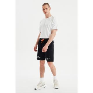 Trendyol Black Mens Regular Fit Shorts & Bermuda pánské M