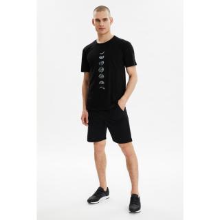 Trendyol Black Mens Regular Fit Tracksuit Set pánské XL