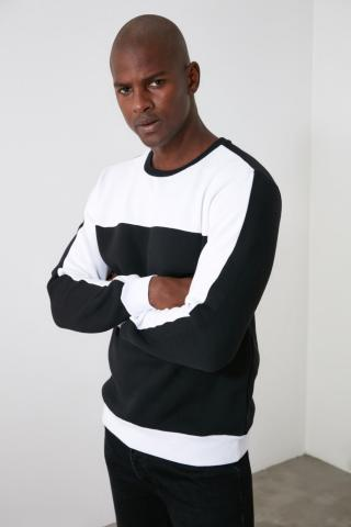 Trendyol Black Mens Sweatshirt pánské M