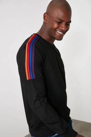 Trendyol Black Mens Sweatshirt pánské S