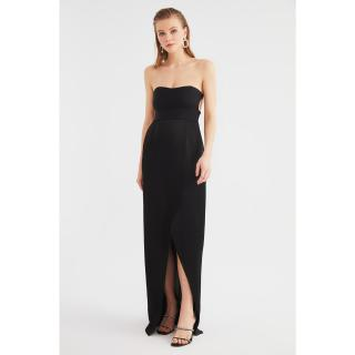 Trendyol Black Neck Detailed Evening Dress & Graduation Gown dámské 34