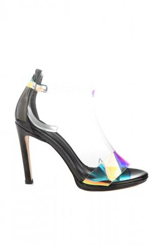Trendyol Black Platform Color Transparent Tape Detailed Womens Classic Heels dámské 38