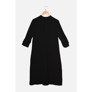 Trendyol Black Pleated Dress dámské Other 34