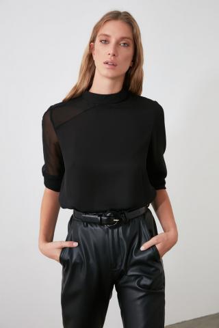 Trendyol Black Shoulder Detailing Blouse dámské 34
