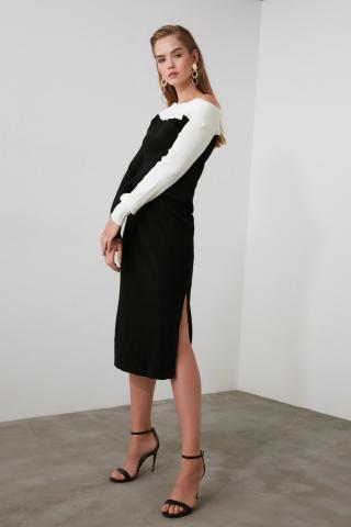 Trendyol Black Slit KnitWear Skirt dámské S