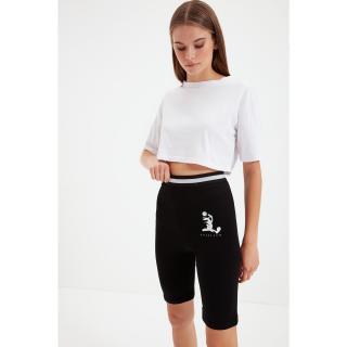 Trendyol Black Space Jam Licensed Biker Knitted Leggings Tights dámské Other S