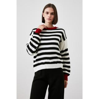 Trendyol Black Striped Knitwear Sweater dámské S