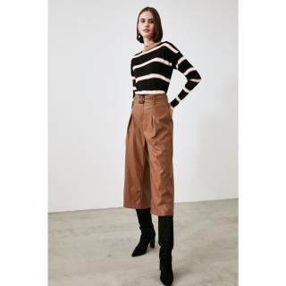 Trendyol Black Striped Knitwear Sweater dámské S