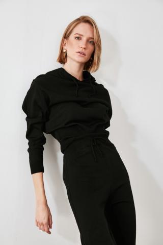 Trendyol Black Sweater-Trouser Knitwear Bottom-Top Suit dámské M