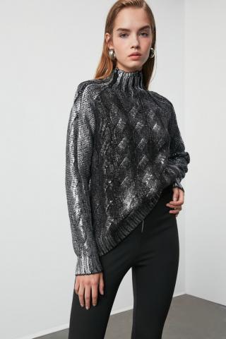 Trendyol Black Varied Knitwear Sweater dámské L