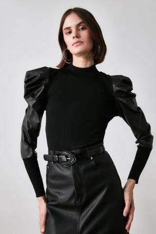 Trendyol Black Woven Garnili Handle Knitwear Sweater dámské S