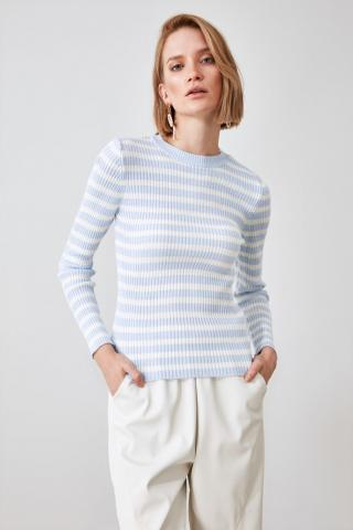 Trendyol Blue Striped Knitwear Sweater dámské Navy M