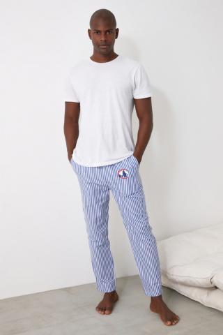 Trendyol Blue Striped Pajamas bottom pánské Navy S
