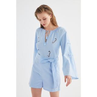 Trendyol Blue Tie Detailed Overalls dámské 34