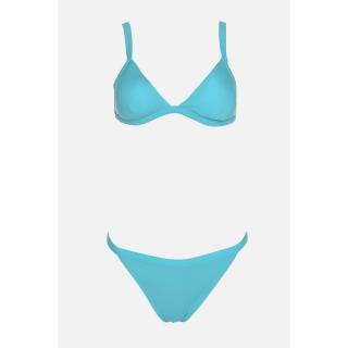 Trendyol Blue Triangle Bikini Set dámské 34