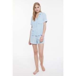 Trendyol Blue Woven Pajamas Set dámské 34
