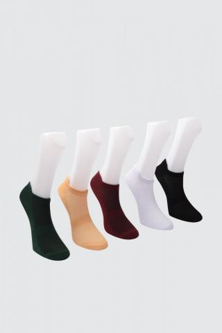 Trendyol Bordeaux 5 Pack Sports Socks Socks dámské Burgundy One size