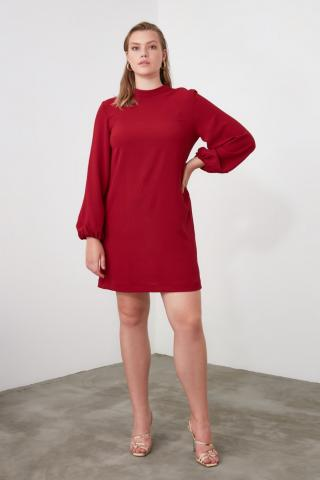 Trendyol Bordeaux Basic Dress dámské Burgundy 40