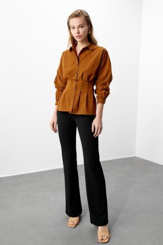 Trendyol Brown Basic Shirt dámské 34