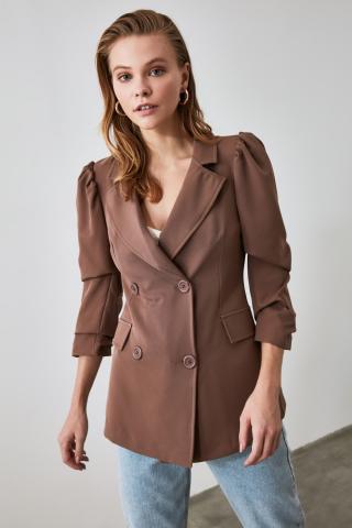 Trendyol Brown Button Detailed Jacket dámské 34