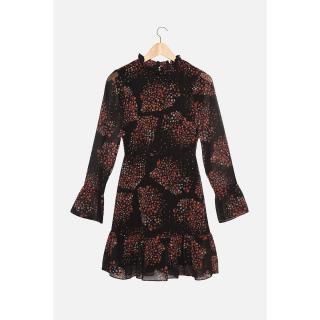 Trendyol Brown Floral Pattern Dress dámské Other 42