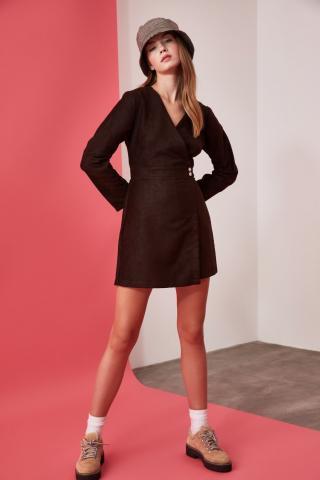 Trendyol Brown Shorts Skirt Dress dámské 36