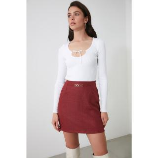 Trendyol Burgundy Accessory Detailed Skirt dámské 38
