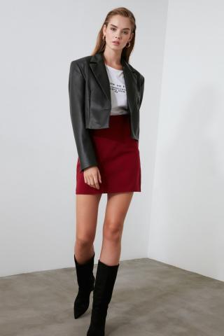 Trendyol Burgundy Basic Skirt dámské 34