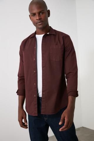 Trendyol Burgundy Mens Shirt pánské S