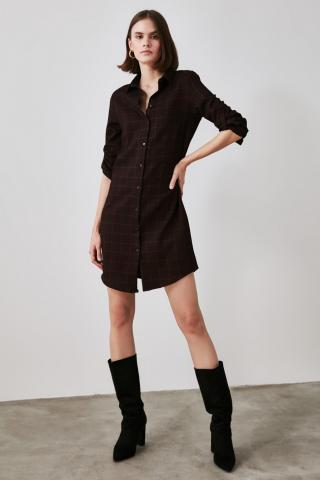Trendyol Burgundy Shirt Dress dámské 34