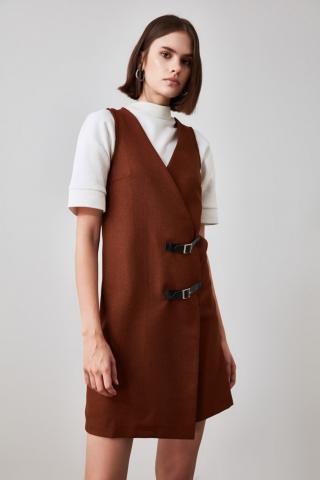 Trendyol Camel Belt Detailed Jile Dress dámské 34