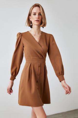 Trendyol Camel Cruise Collar Dress dámské 34