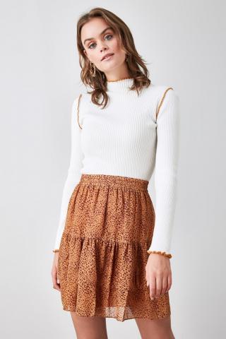 Trendyol Camel Flywheel Skirt dámské 34